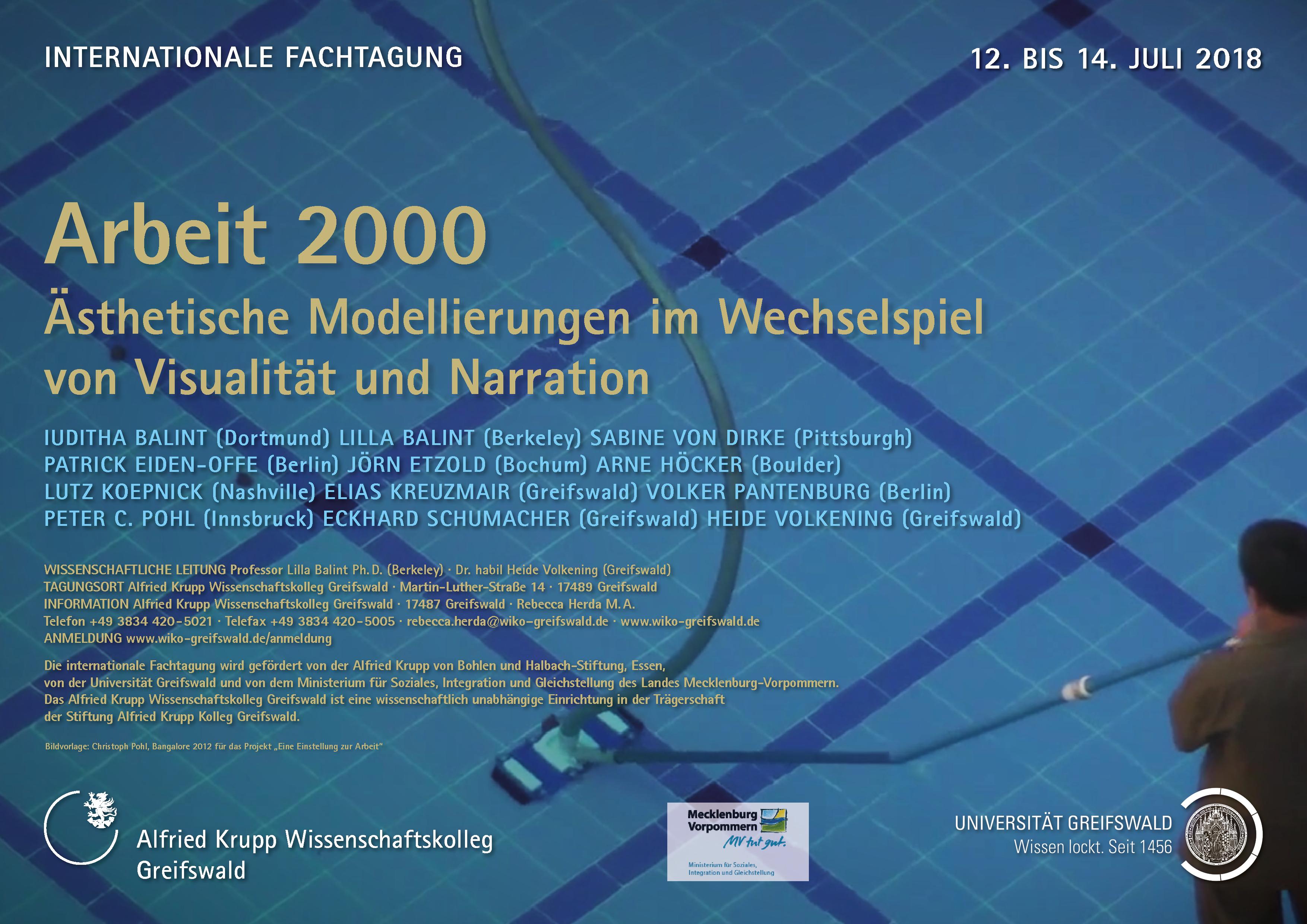 Arbeit 2000. Ästhetische Modellierungen im Wechselspiel von ...