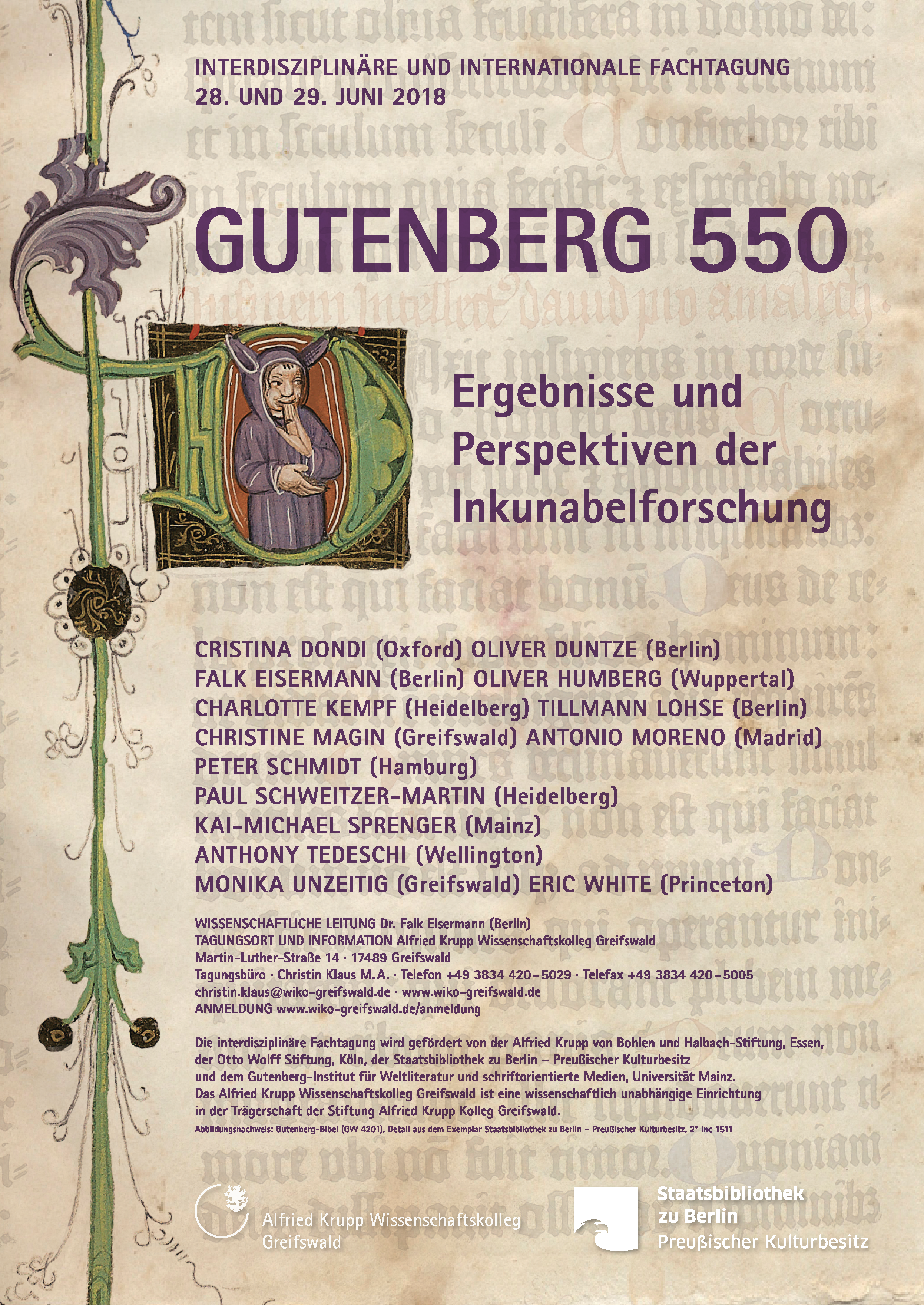 Gutenberg 550 Ergebnisse Und Perspektiven Der Inkunabelforschung